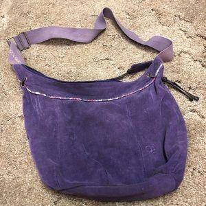 Purple corduroy cross body hobo bag by OP